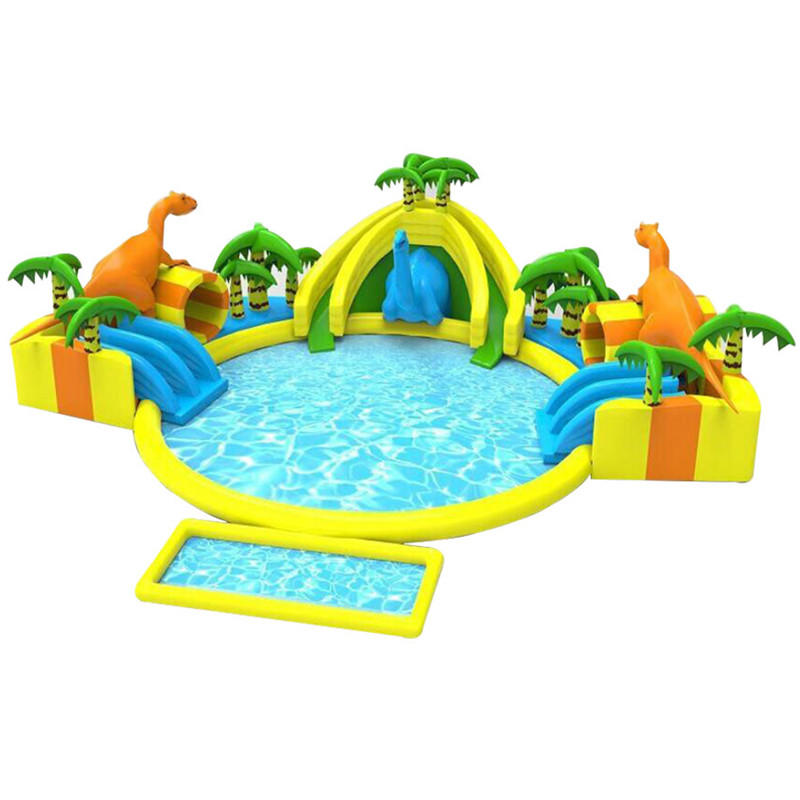 inflatable dinosaur water park