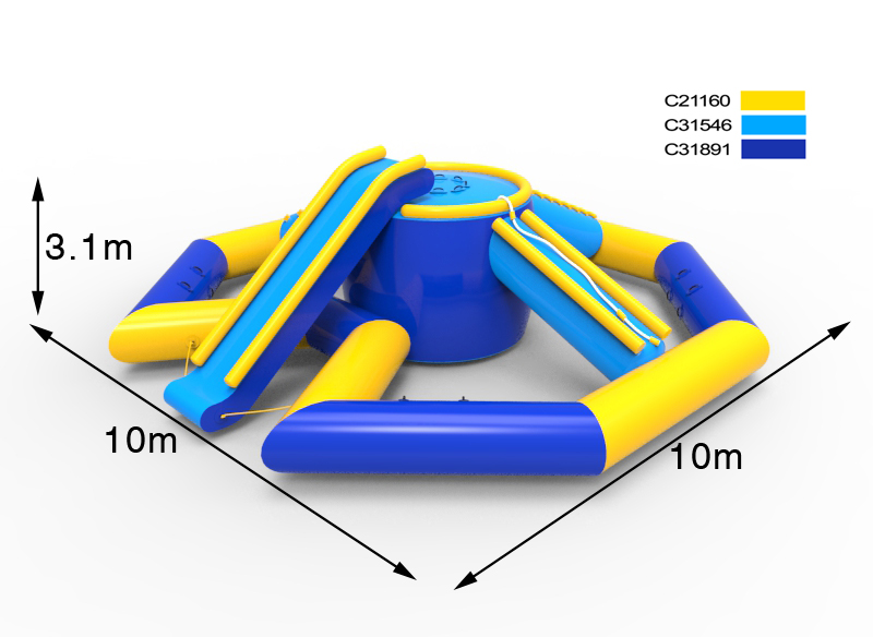 giant inflatable water park for summer