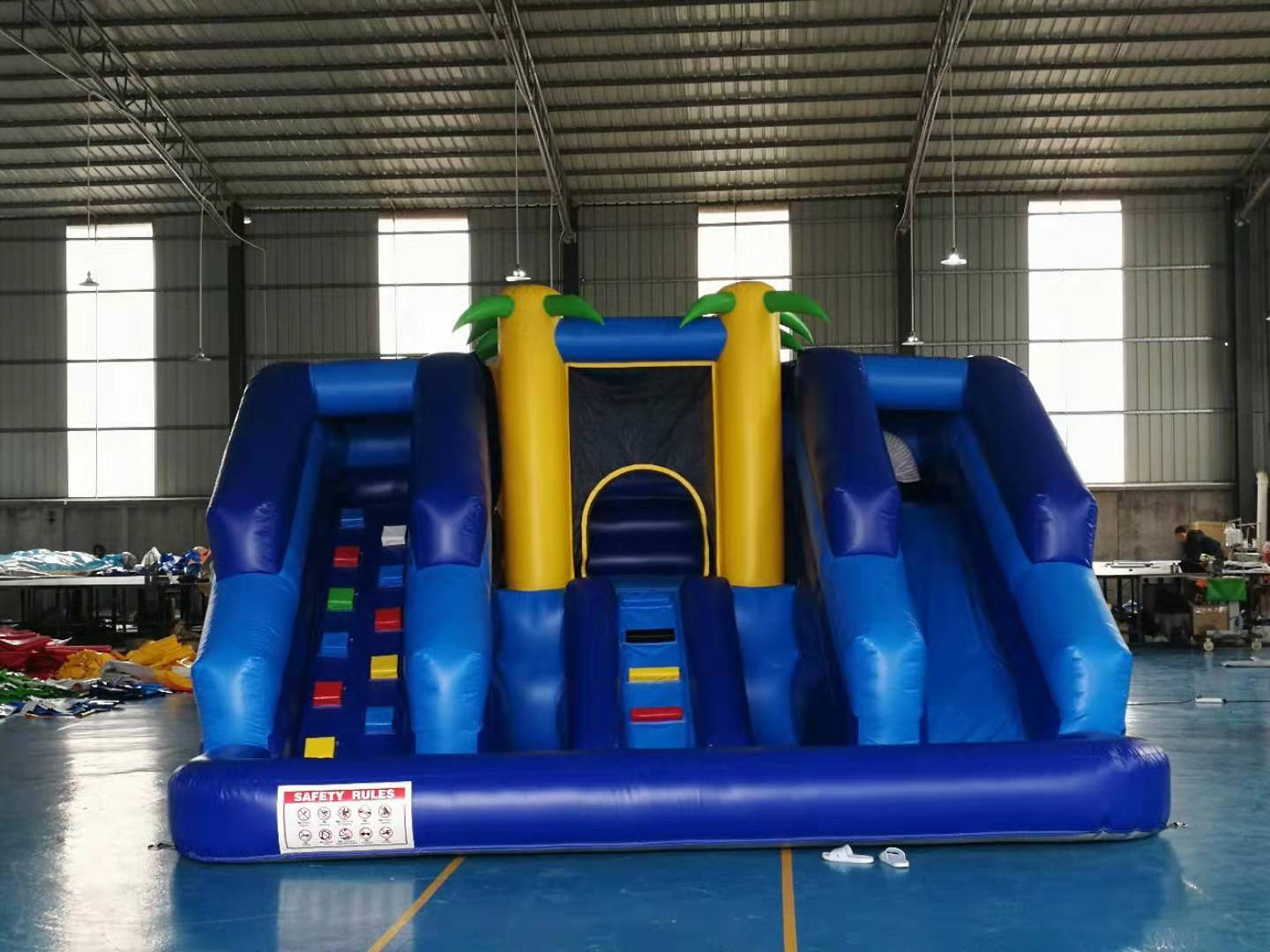 small Inflatable slide and bouncer combo for kids