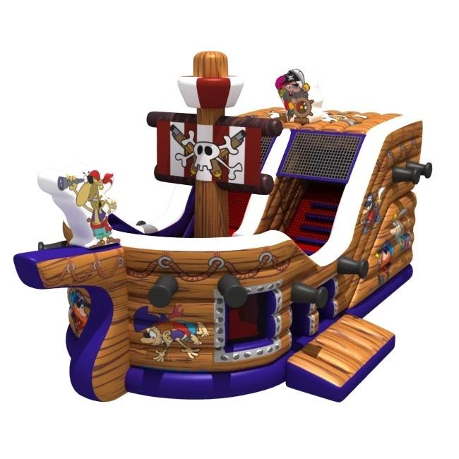 Commercial Used Inflatable Dry Slide, Pirate Ship Castle Slide Inflatable For sale