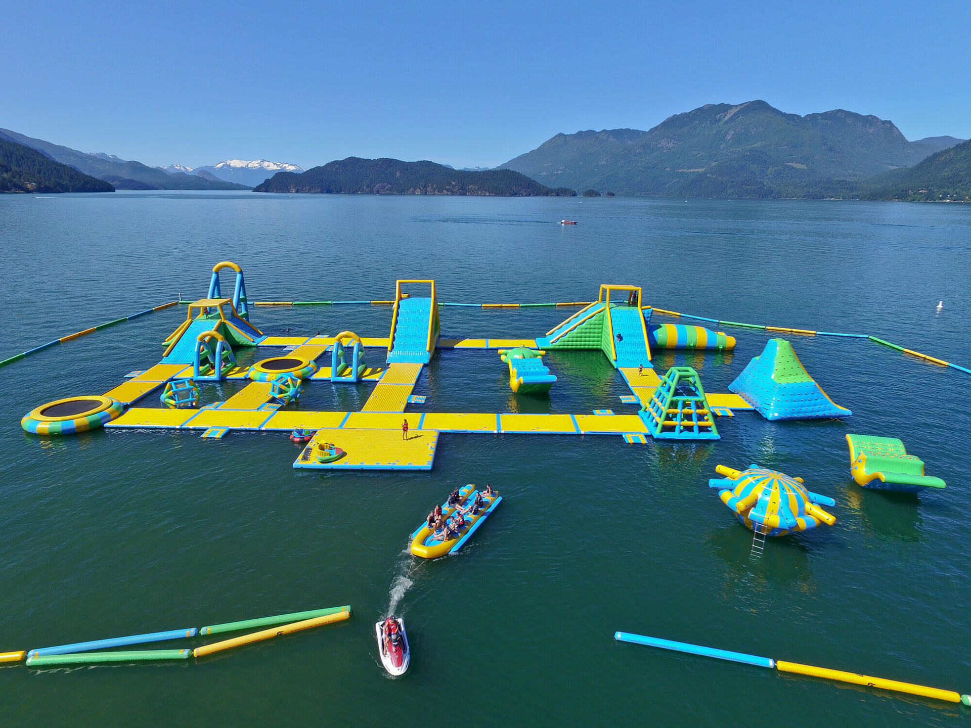 New Floating Inflatable Water Park / Lake Inflatable Water Games For Adults