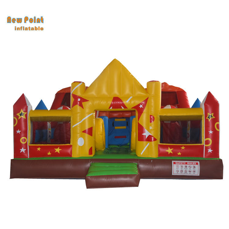 giant colorful customized inflatable bounce house, inflatable amusement park
