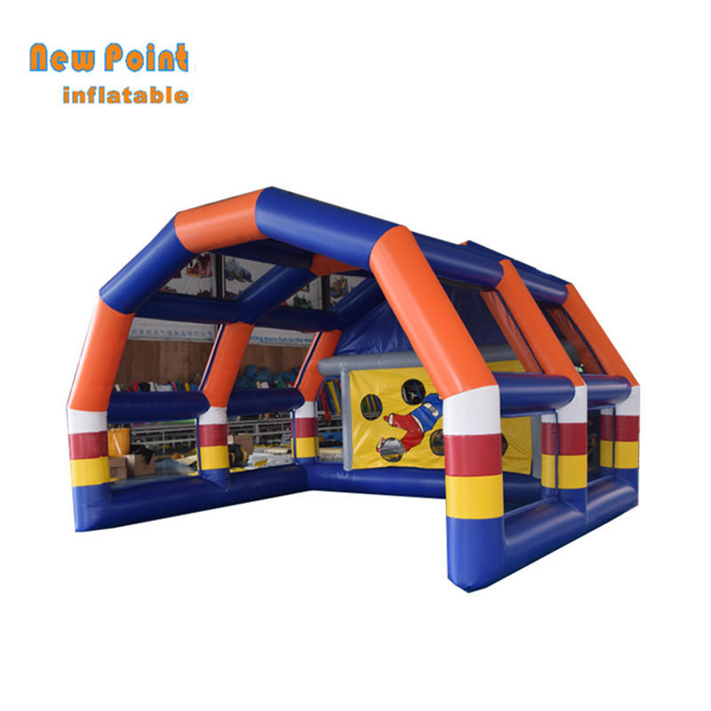Customized inflatable soccer kick games football goal for sale