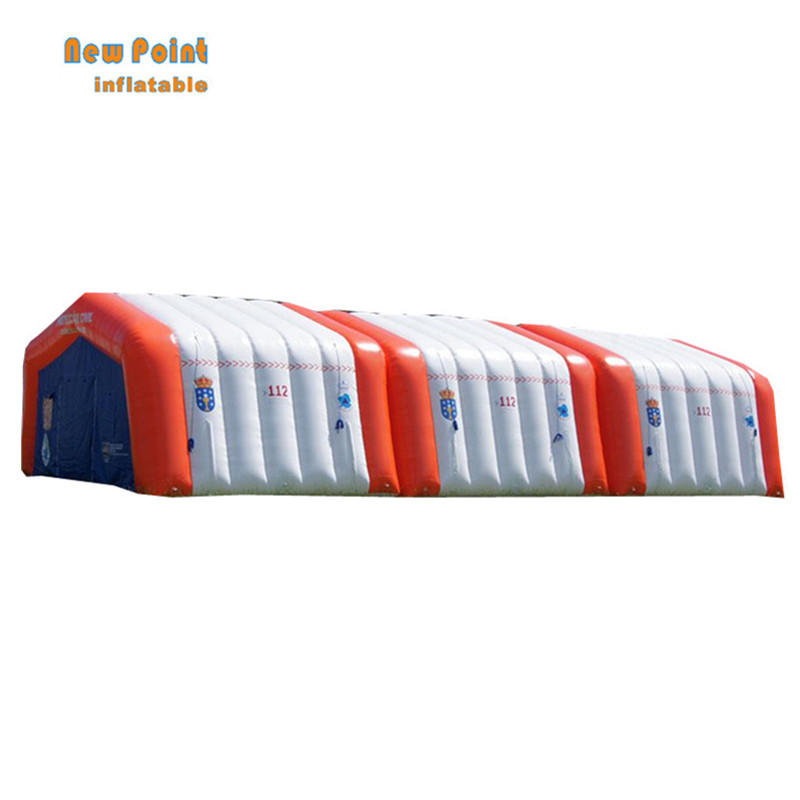 movable emergency red cross inflatable medical tent for sale