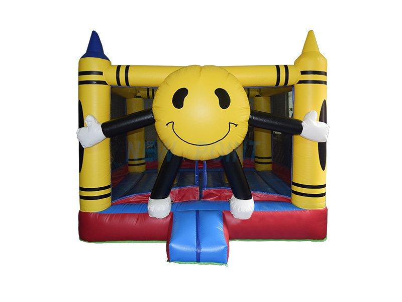 Guangzhou New Point CE PVC kids smile inflatable bouncer