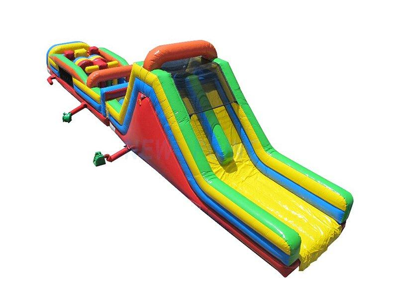Guangzhou New Point CE Plato 0.55 mm PVC kids and adults commercial inflatable obstacle course