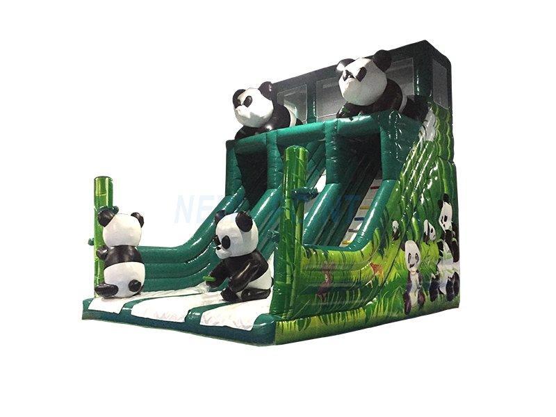 Guangzhou New Point CE 0.55mm PVC Chinese Panda inflatable slide for kids