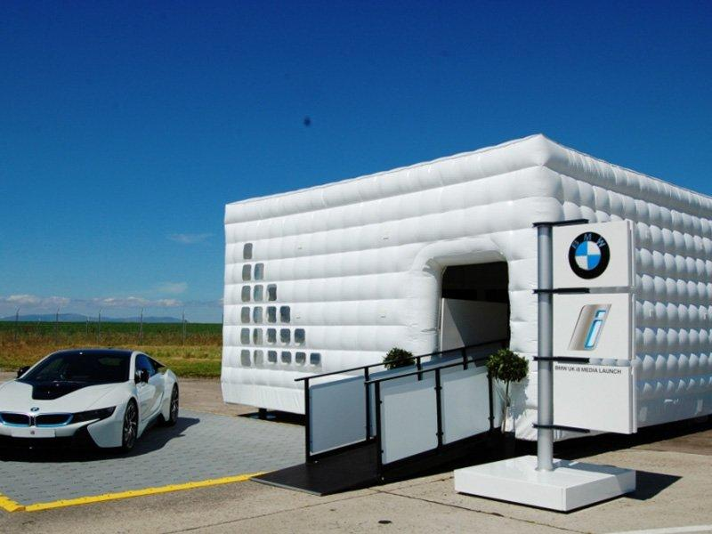 BMW inflatable tent
