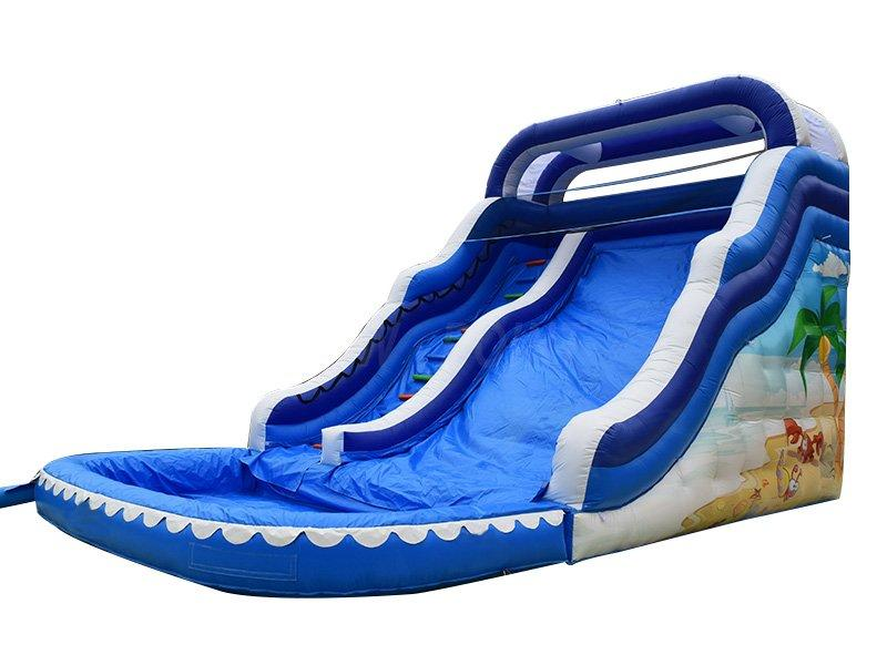 Guangzhou New Point CE PVC ocean theme summer inflatable pool slide on sale